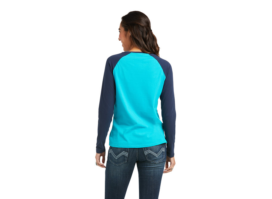 10037295 Baseball t-shirt Lakeblue/Navy
