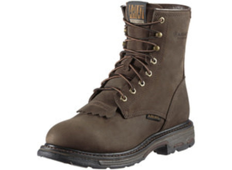 10011939 WORKHOG LACE UP OILY DISTRESSED BROWN