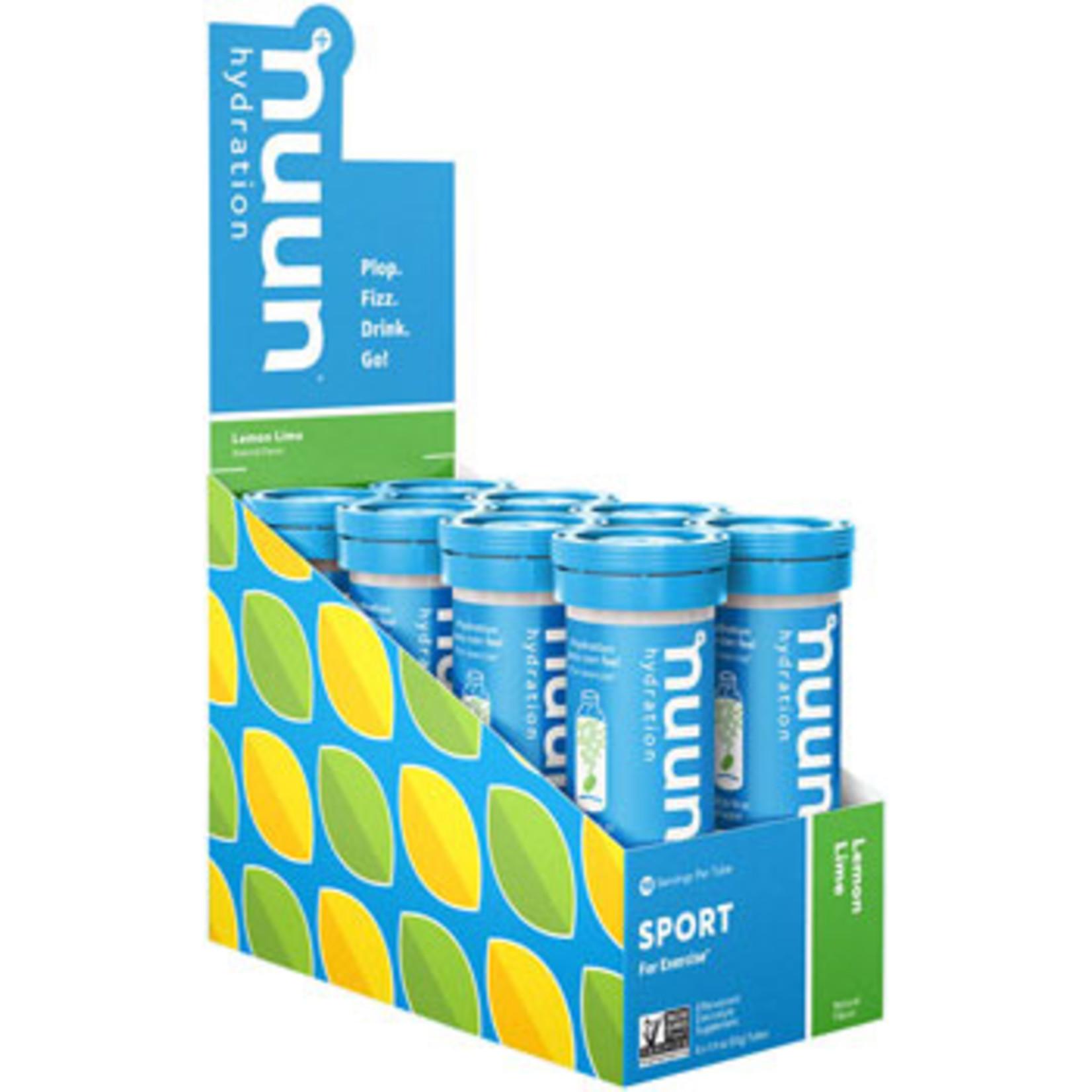 Nuun Nuun Sport Hydration Tablets: Lemon Lime, Box of 8 Tubes