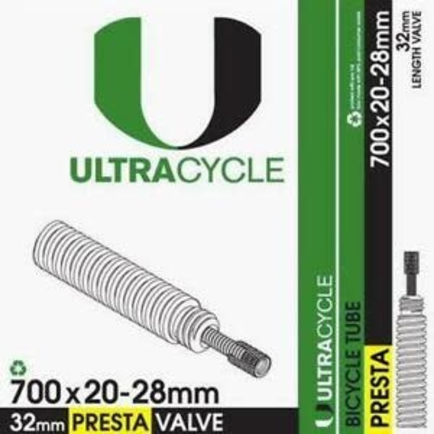 ULTRACYCLE UC 700X20-28,TUBE,32MM,PV 32mm STEM,THREADED,50/CASE
