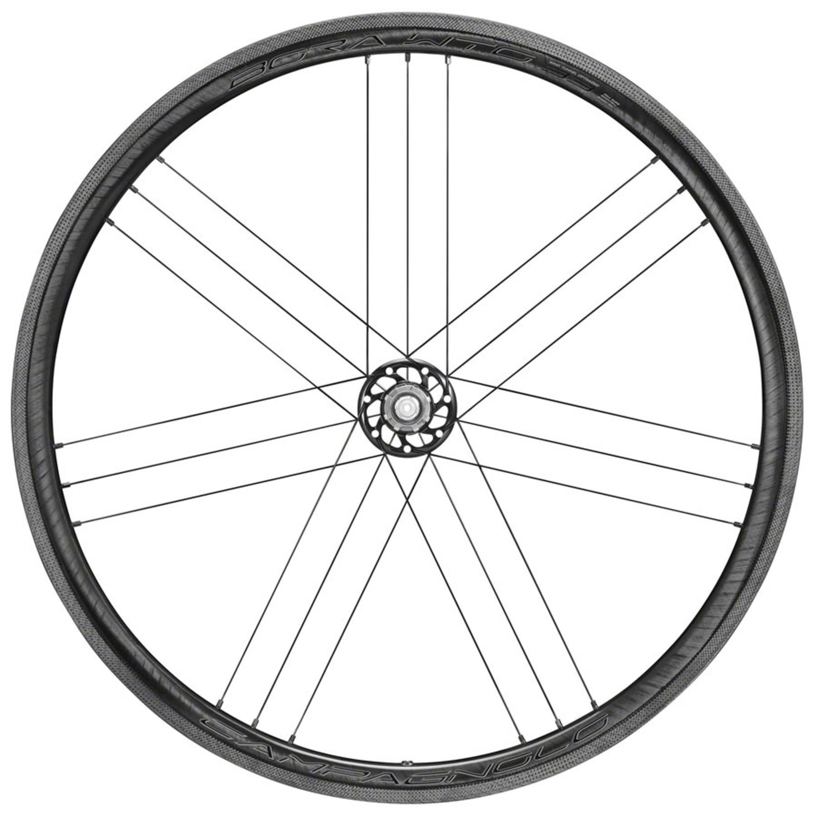 Campagnolo Campagnolo BORA WTO 33 Rear Wheel - 700, QR x 130mm, Rim Brake, 2-Way Fit, Dark Label