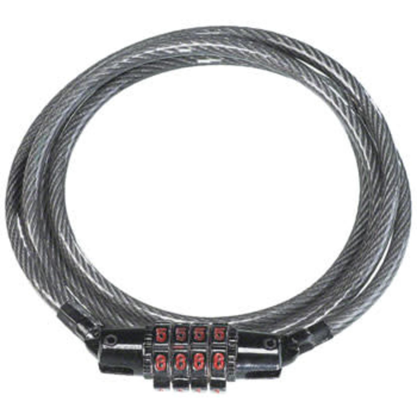 Kryptonite Kryptonite KryptoFlex Keeper 512 4-Digit Combo Cable Lock: 4' x 5mm