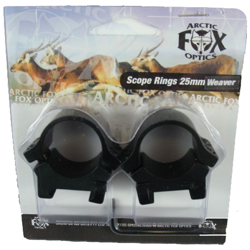 Arctic Fox Arctic Fox Scope Rings 25mm Low Weaver