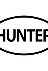 Hunter Oval Decal White 6x3.5