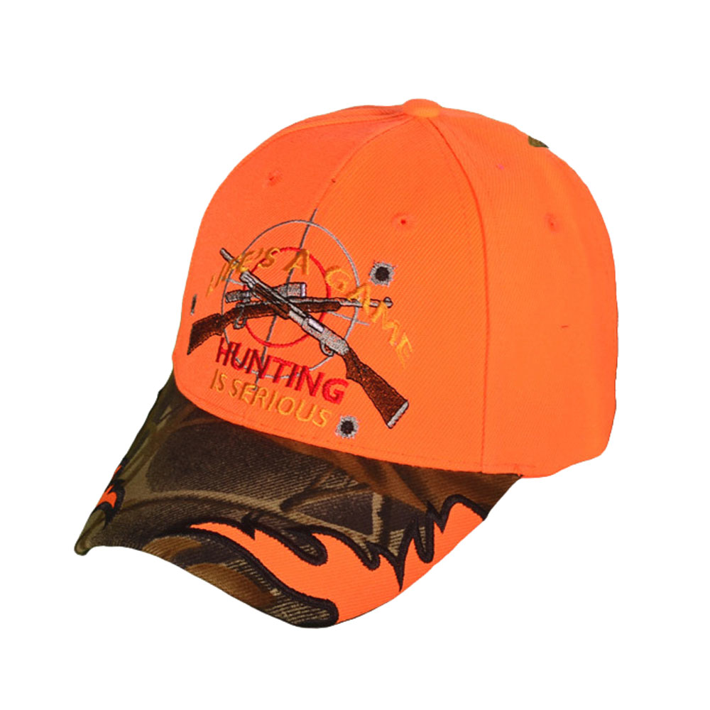 The Knife Kompany Life's A Game Hunting is Serious Cap Orange/Camo
