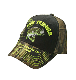 The Knife Kompany Fish Tremble At The Sound of my Name Cap Camo Blk Lime