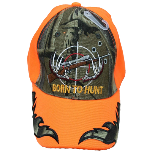 The Knife Kompany Born To Hunt Cap Blaze Orange/Camo