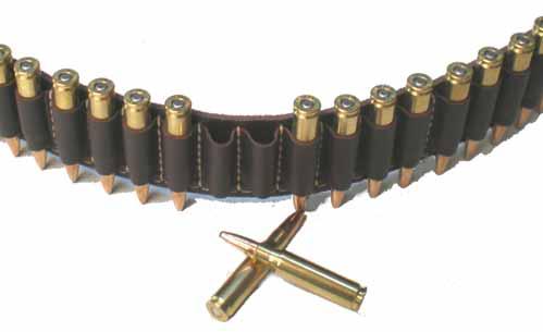 Copper John .30 cal Leather Ammo Belt