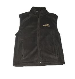 Natural Gear Natural Gear Solid Black Fleece Vest