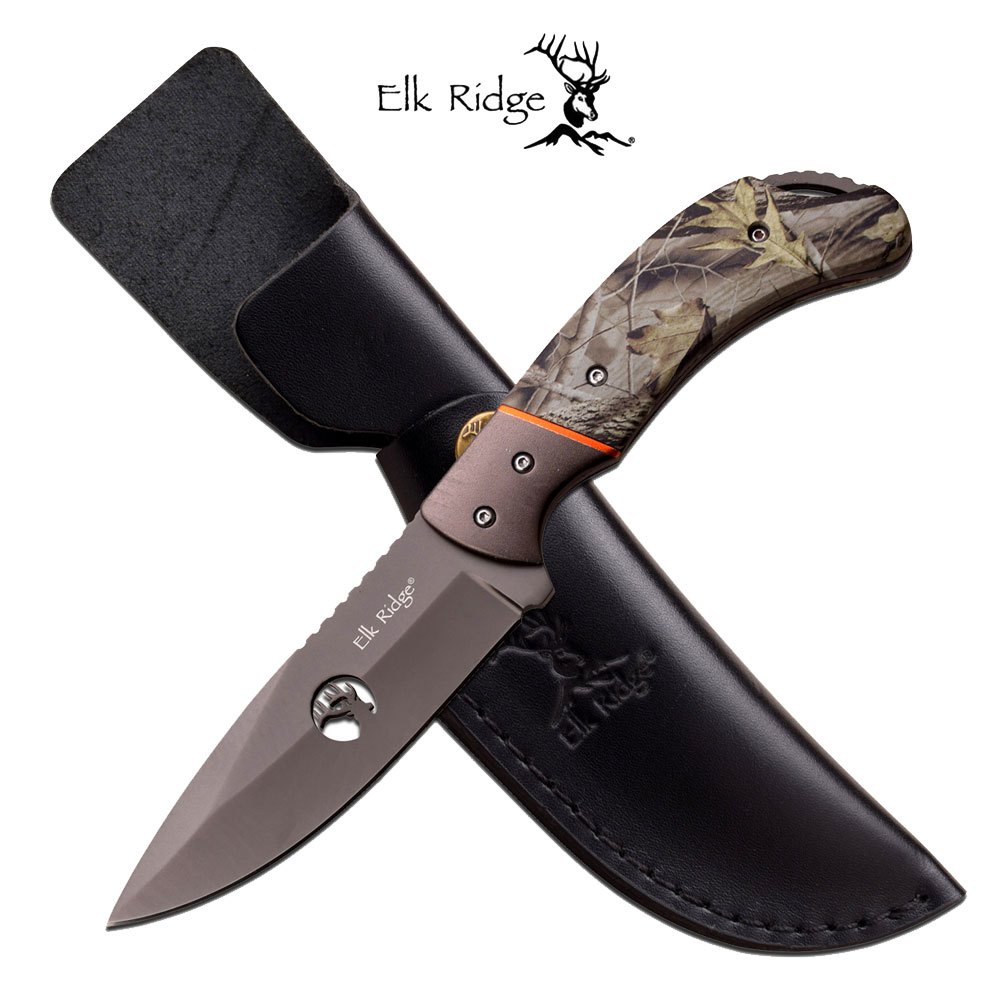 Elk Ridge Elk Ridge Fixed Blade Camo Handle