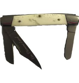 Performance Outdoors Van Diemens Stockman 3 Blade Bone Handle Folding Knife