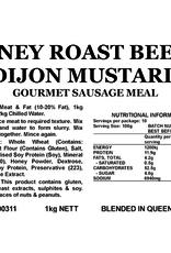 Butcher at Home Gourmet Sausage Meal Honey Roast Beef & Dijon Mustard 1kg