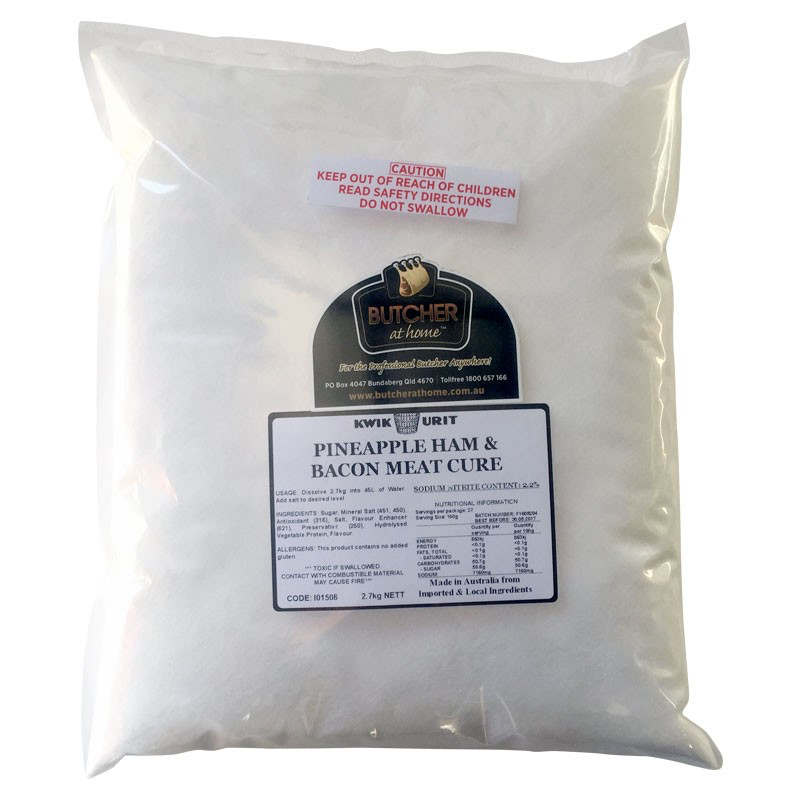 Butcher at Home KWIKURIT Pineapple Ham & Bacon Meat Cure  2.7kg
