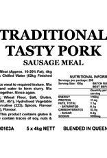 Butcher at Home Sausage Meal Traditional Tasty Pork 4kg