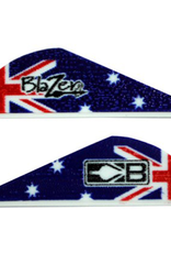 "Bohning Bohning Blazer Vane 2"" Australia Flag 100 Pack"