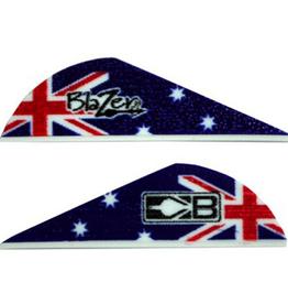 "Bohning Bohning Blazer Vane 2"" Australia Flag 25 Pack"