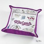 Matzah Tray, Fabric, Foldable, ''Passover Potpourri''