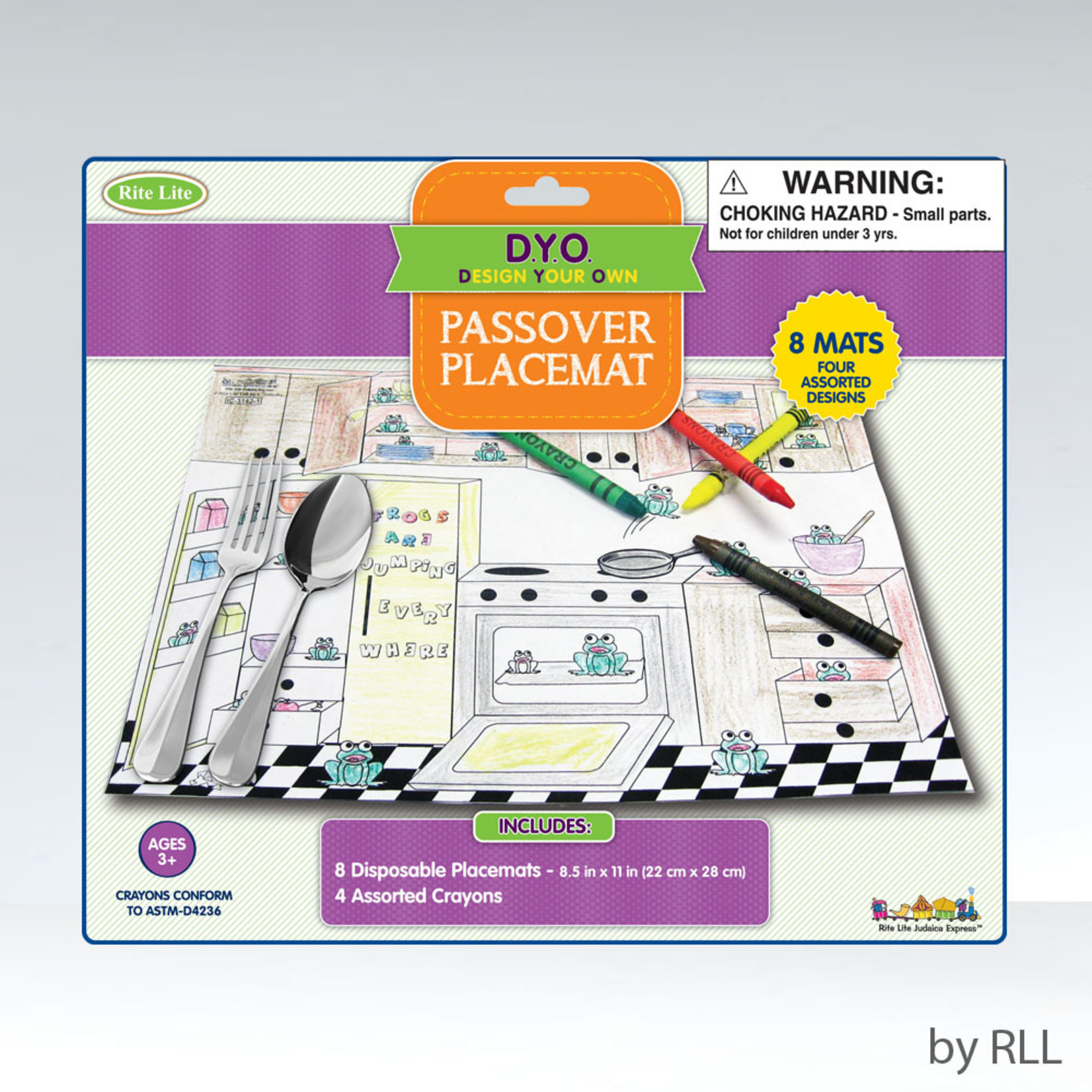 Passover Colouring Placemats, 8-pack