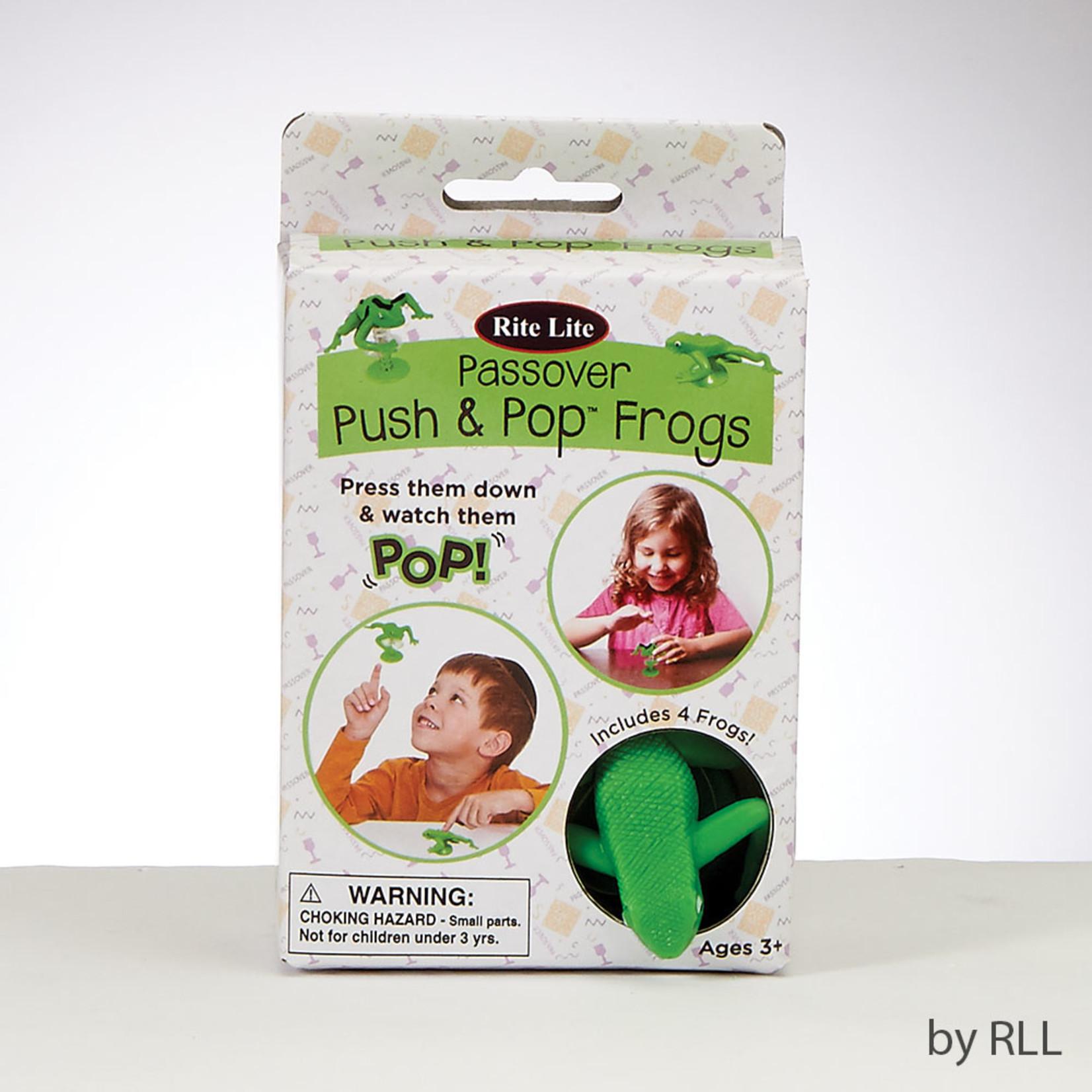 Push n' Pop Frogs, 4-pack