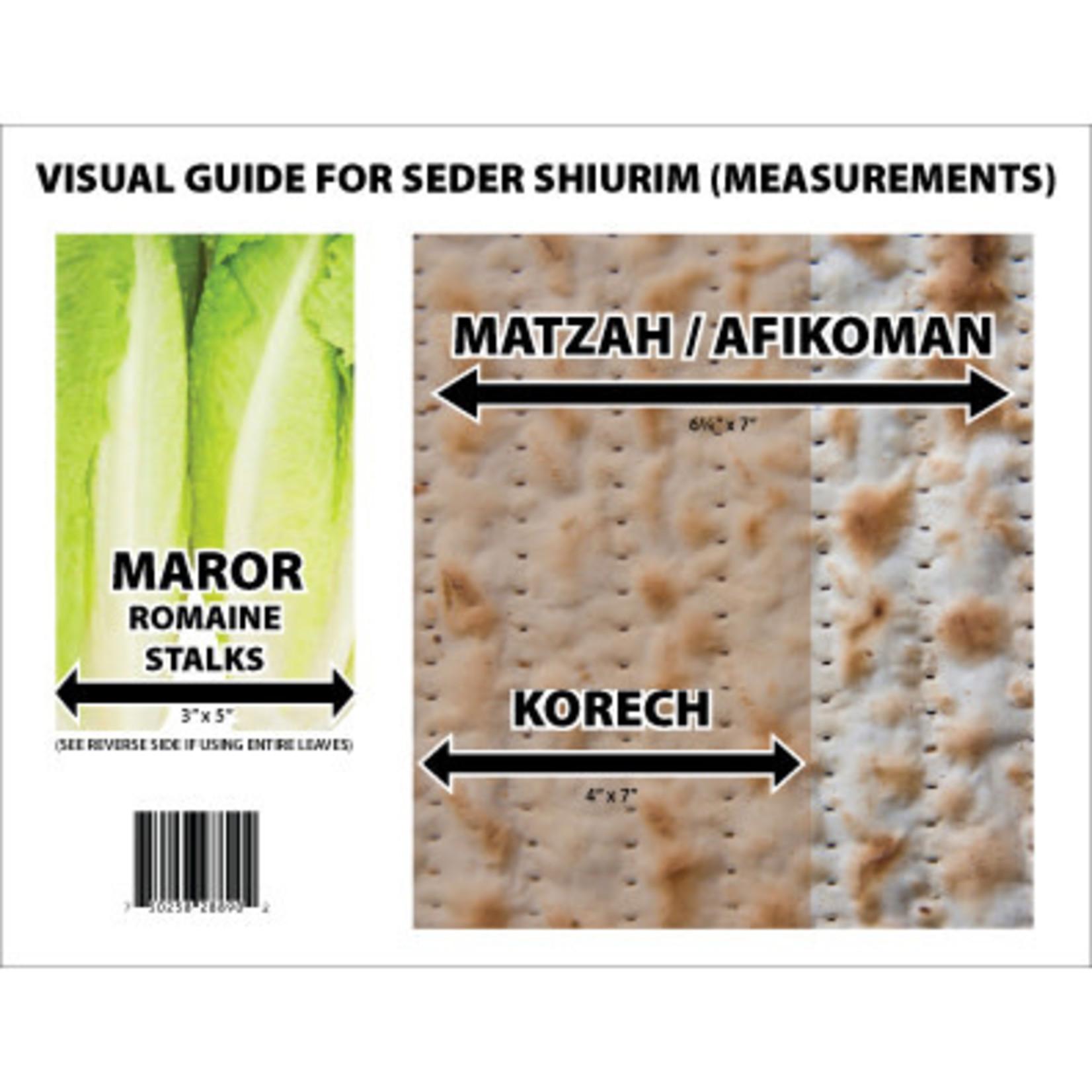 Seder Shiur Visual Guide, Full Colour