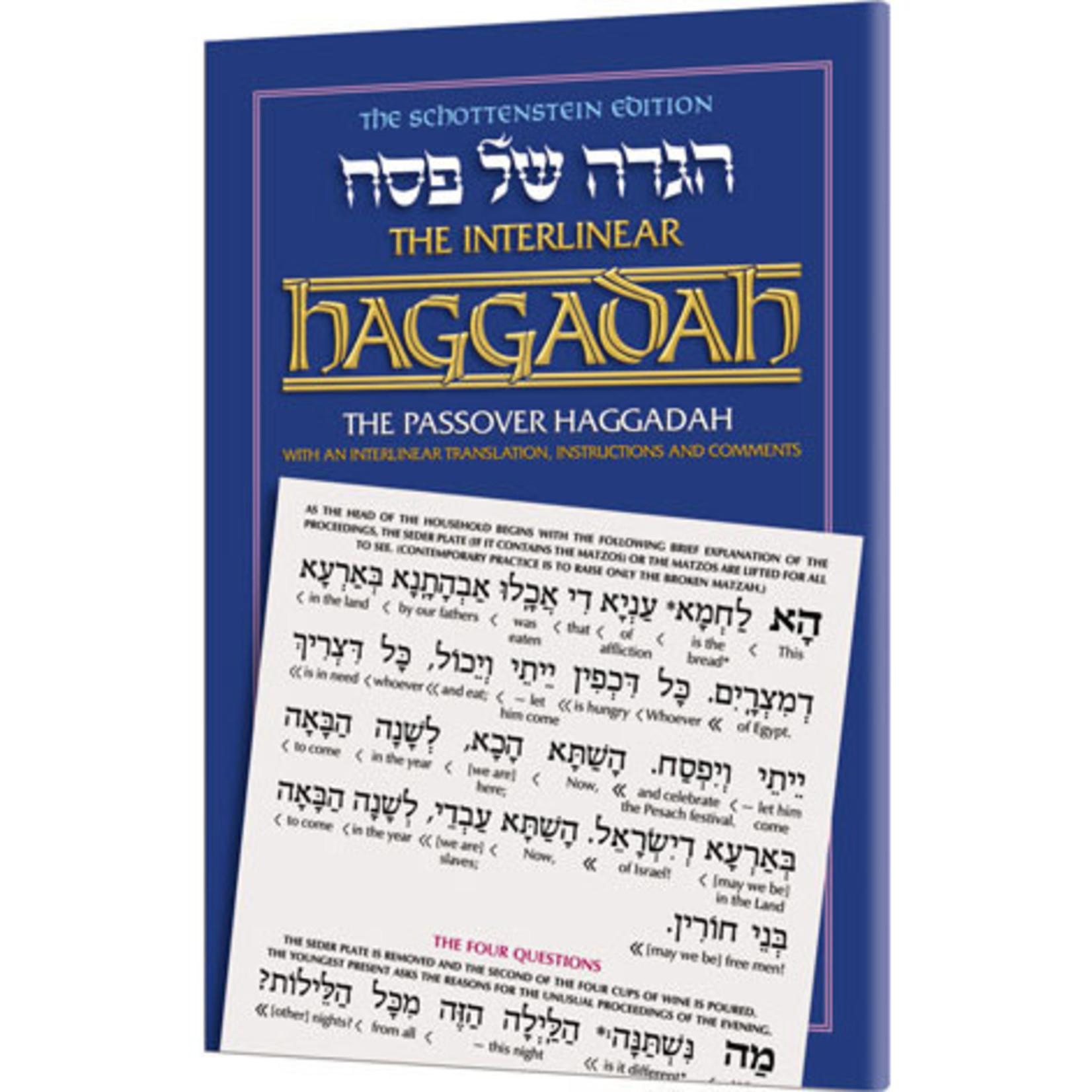 Rabbi Menachem Davis Interlinear Hebrew/English Haggadah, Paperback