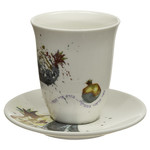 Kiddush Cup Set, Stemless, Porcelain