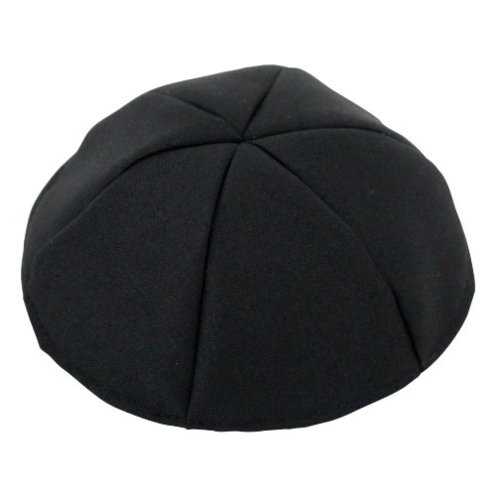 Terylene Kippah, Black, Size 8