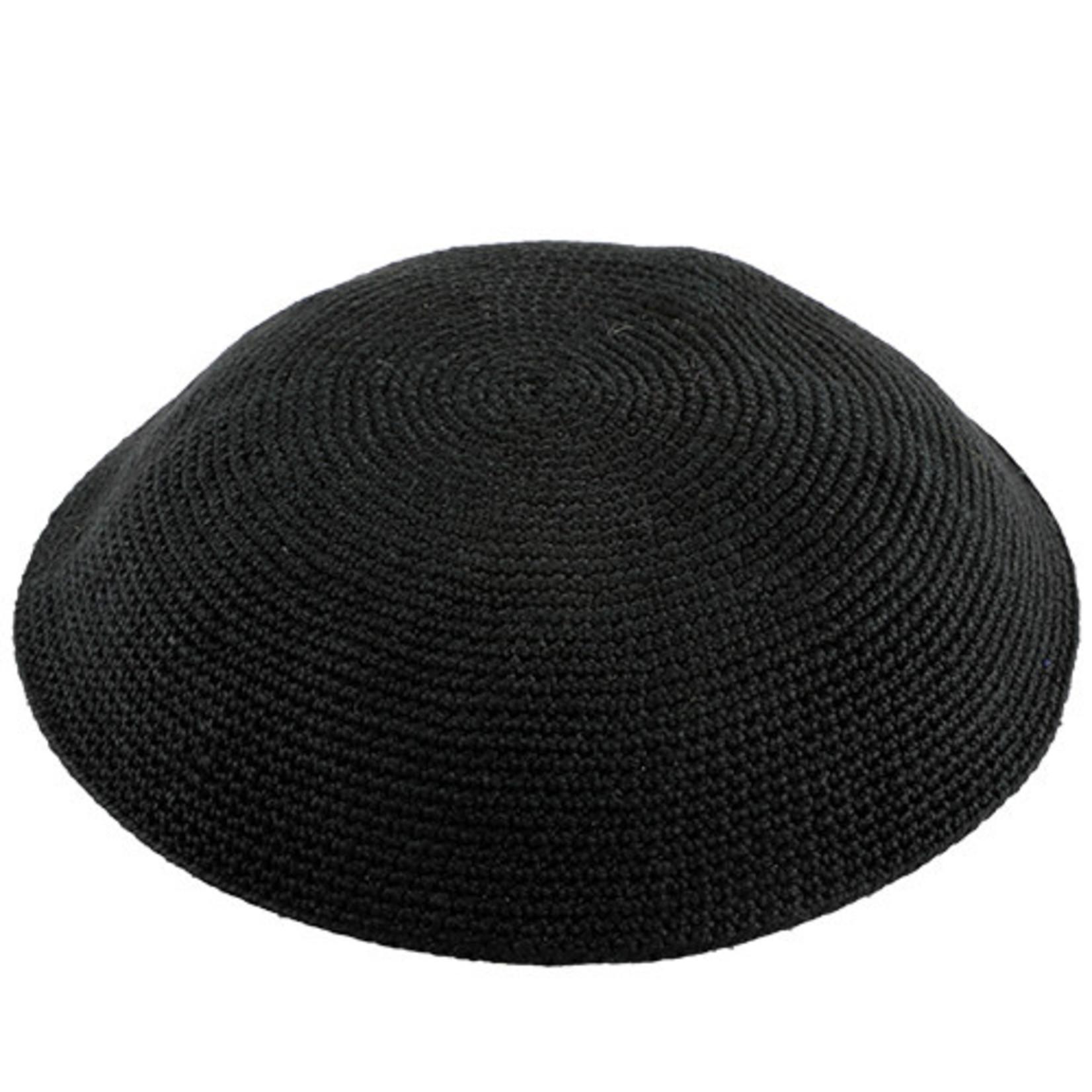 DMC Knit Kippah, Black, 19cm