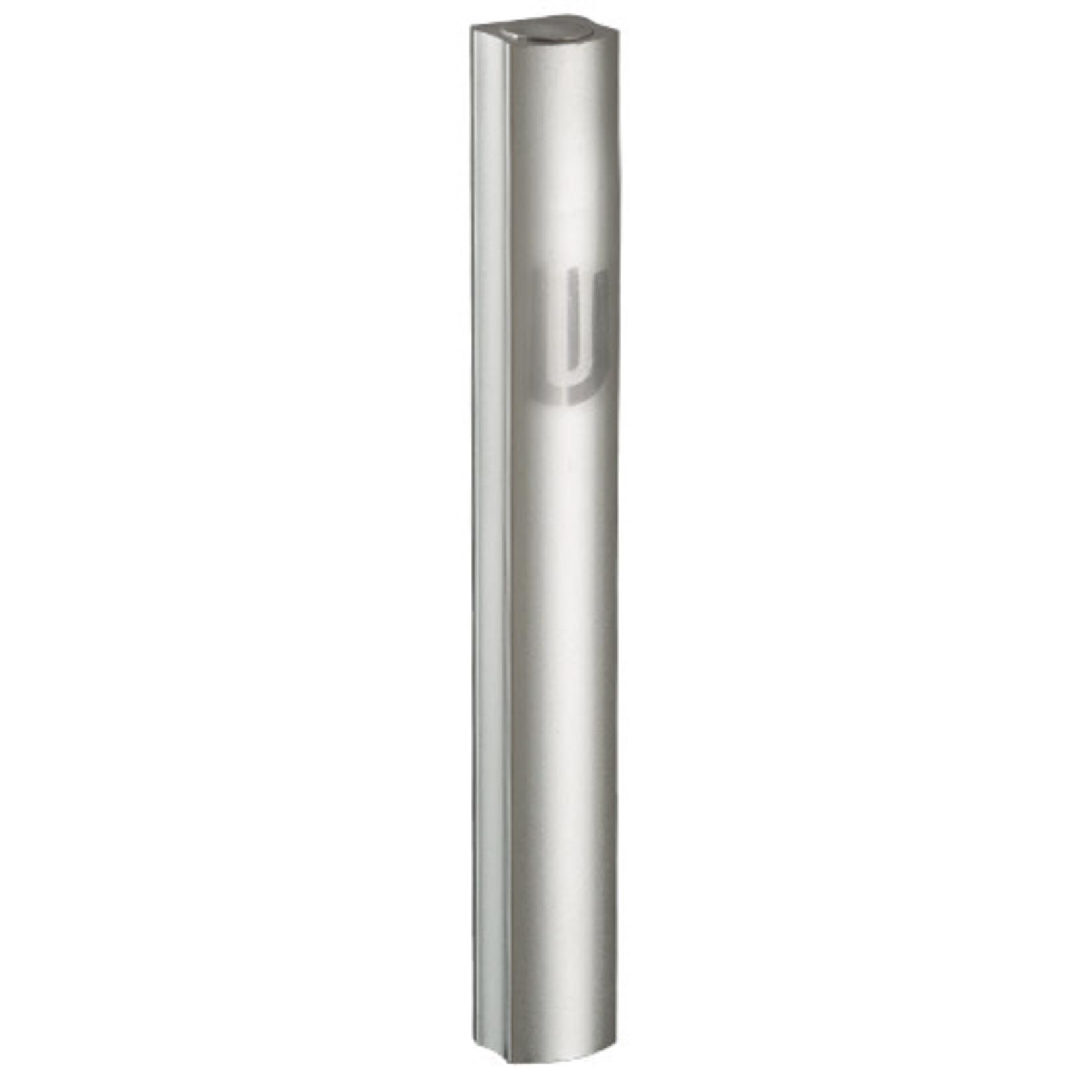 Mezuzah Case, Sandblasted Aluminum, 7cm