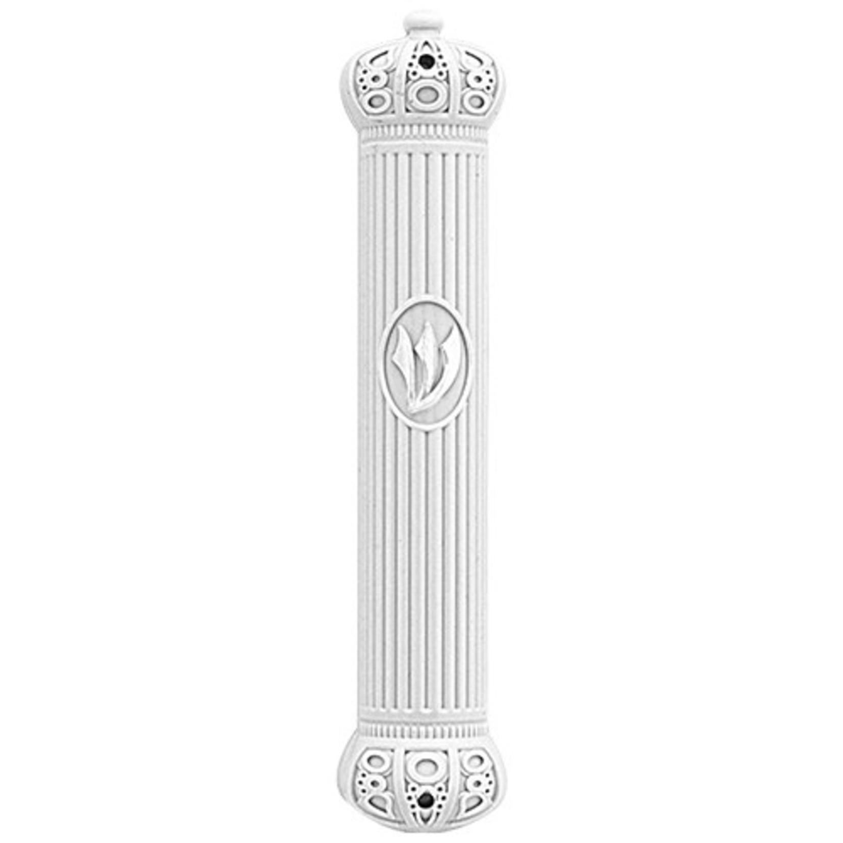 Mezuzah Case, White Plastic, 12cm