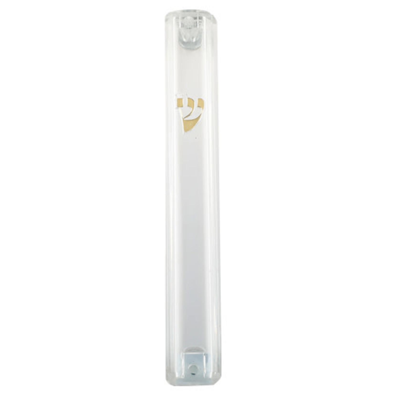 Mezuzah Case, Clear Plastic, 10cm