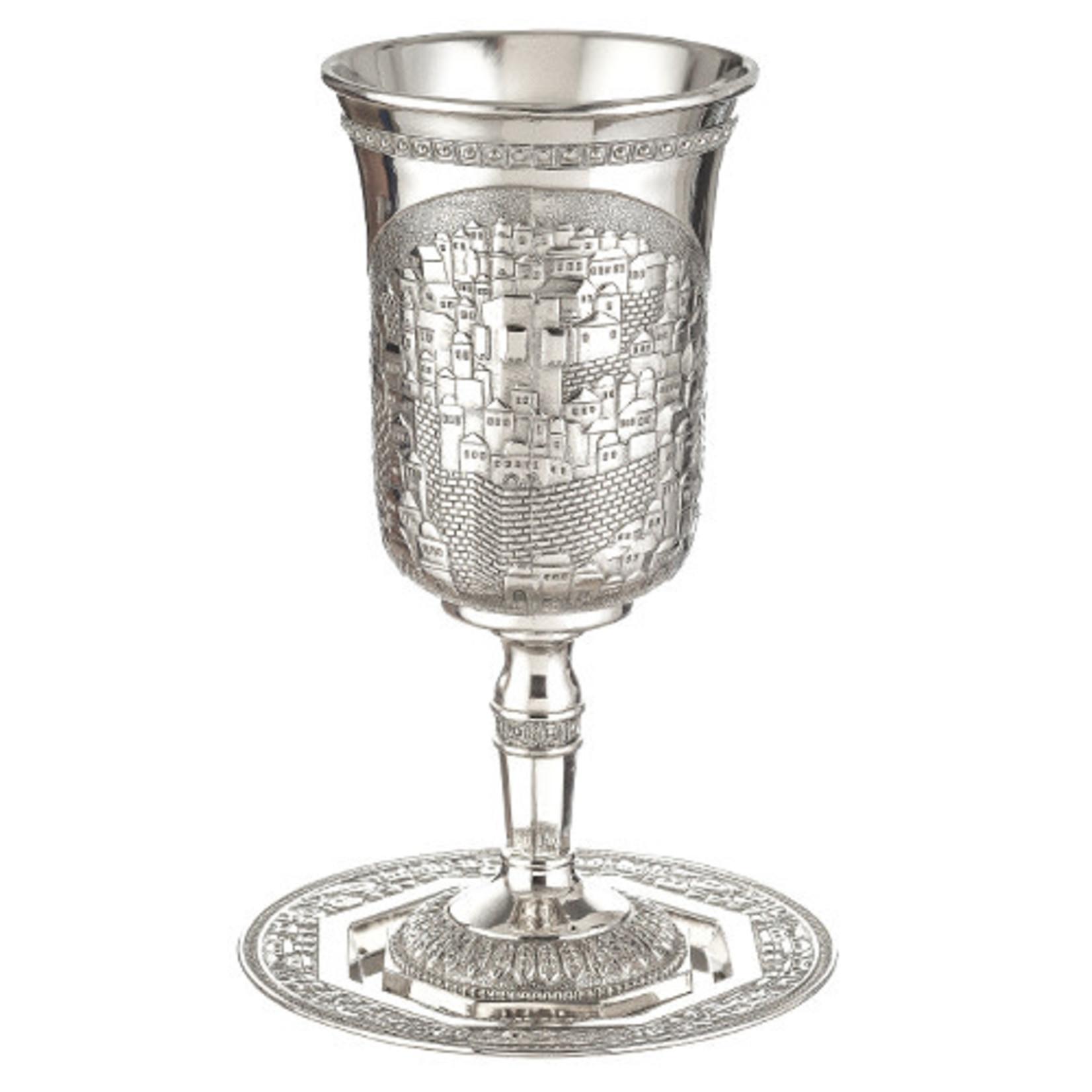 Elijah Cup with Tray, Nickel
