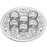 Seder Plate, Glass, 14in