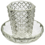 Kiddush Cup Set, Stemless, Crystal