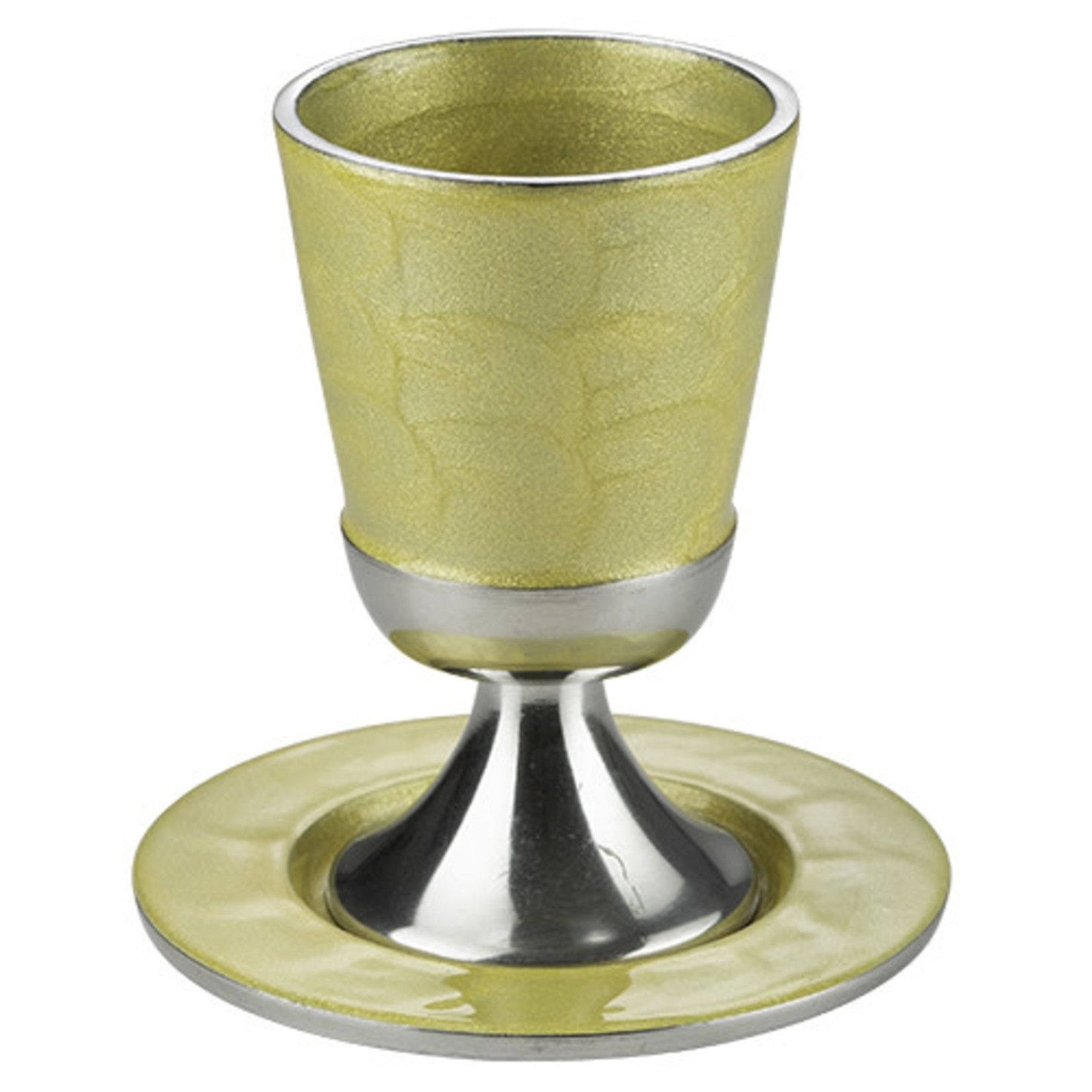 Kiddush Cup Set, Stemmed, Aluminum