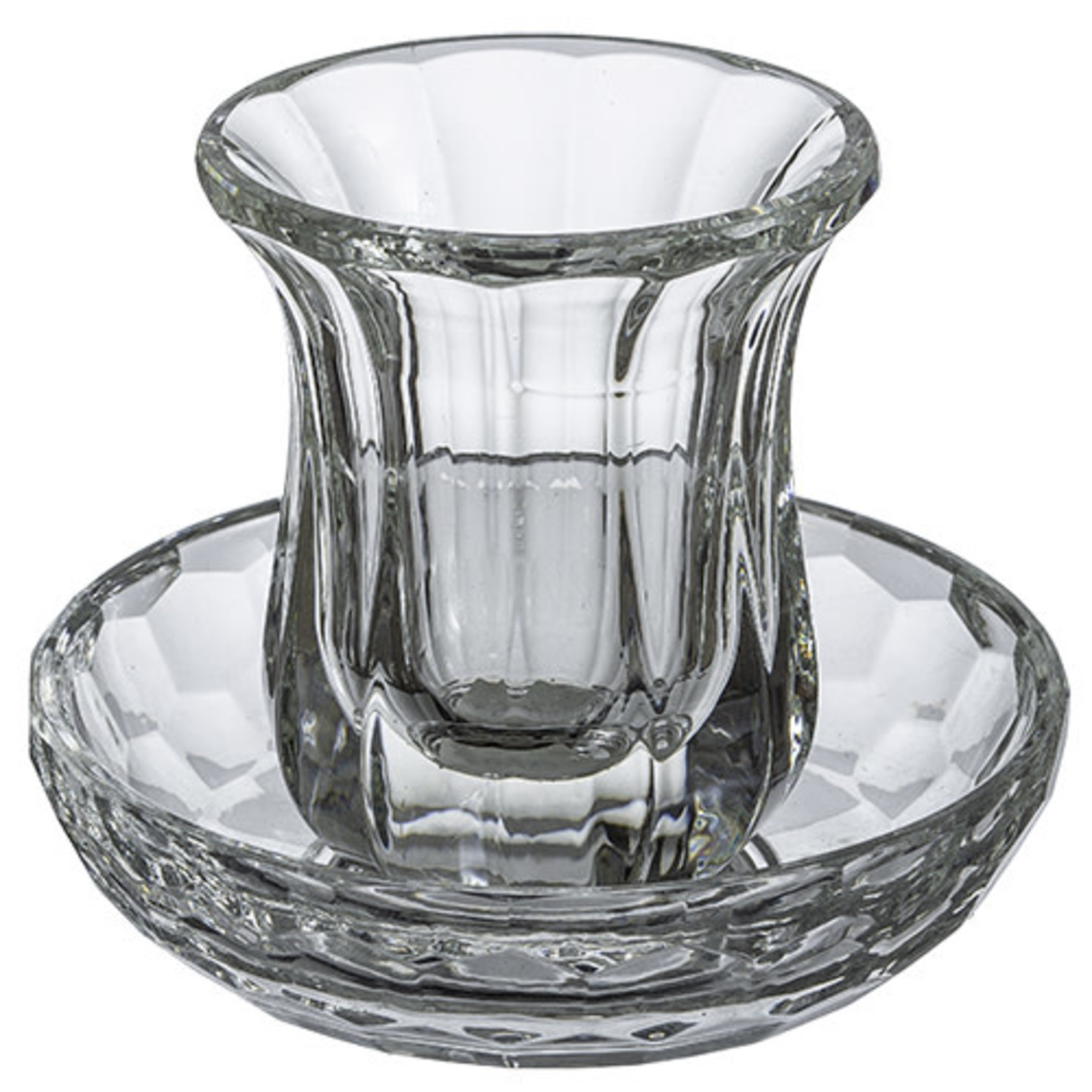 Kiddush Cup Set, Stemless, Crystal