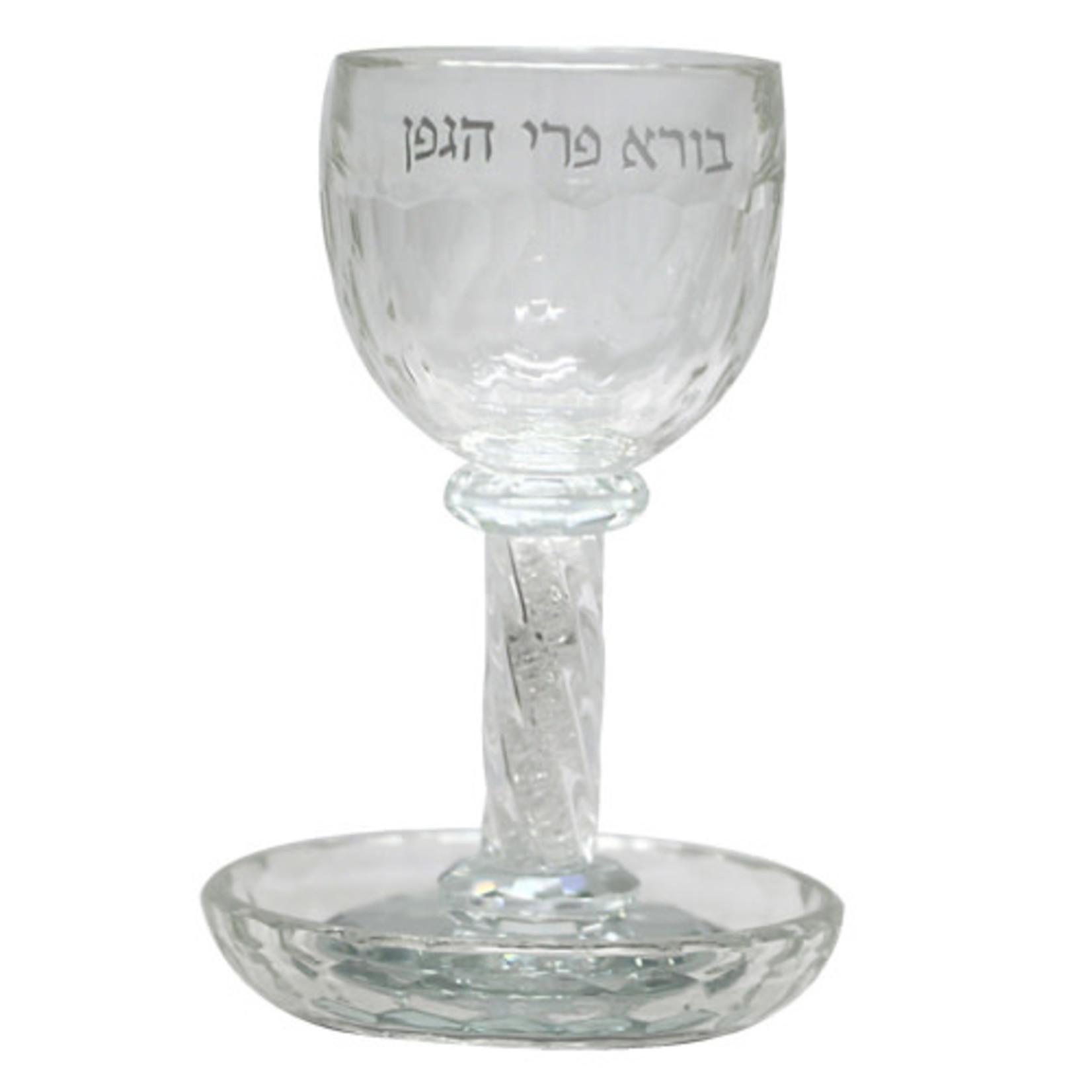 Kiddush Cup Set, Stemmed, Crystal
