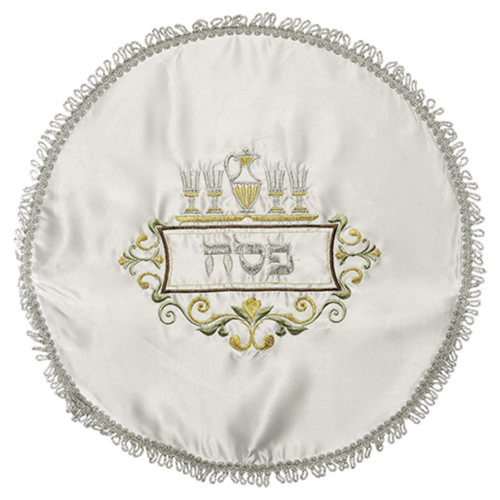 Matzah Cover, Satin, Round