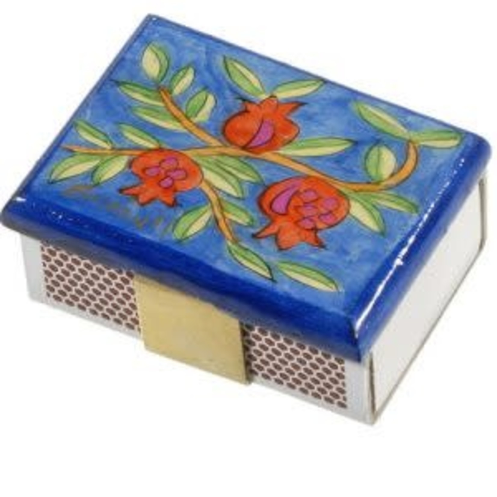Yair Emanuel Matchbox Cover, Wood, Hand-Painted