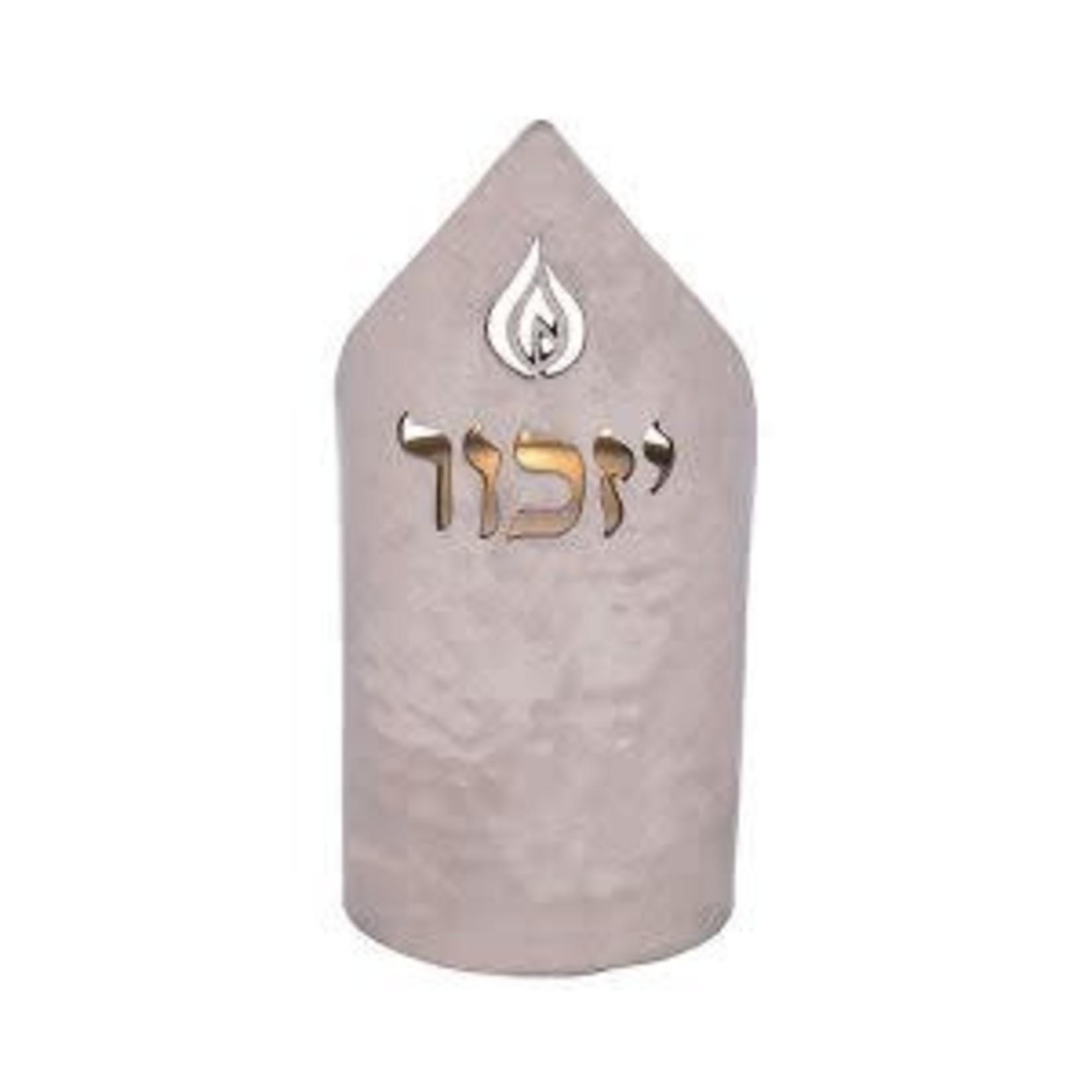 Yair Emanuel Memorial Candle Holder, Aluminum