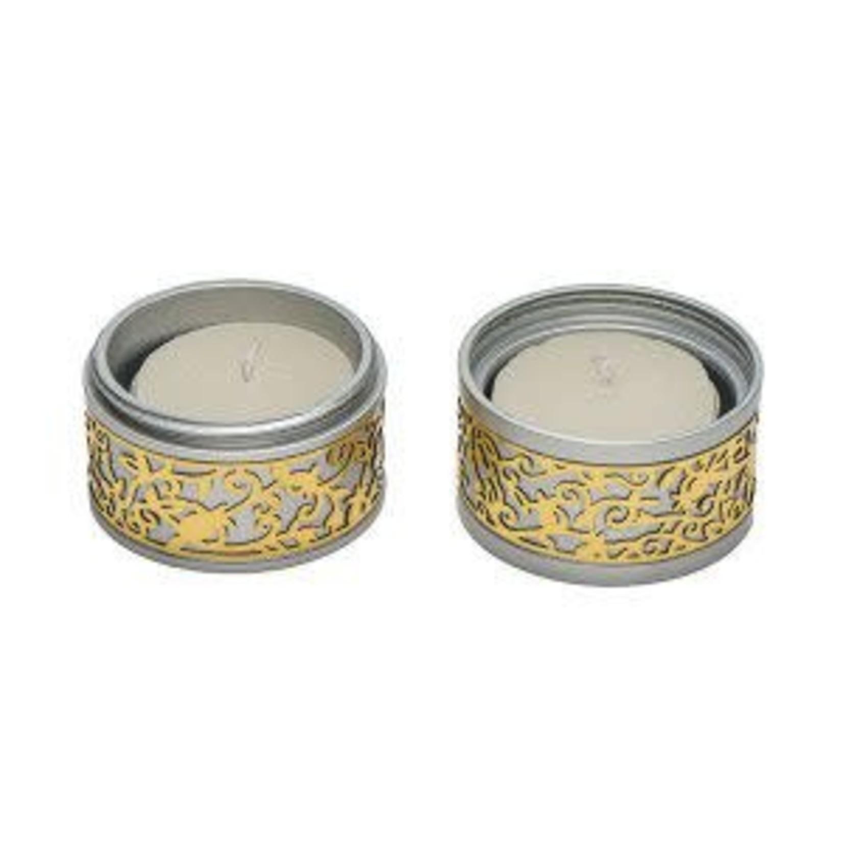 Yair Emanuel Tealight Candlesticks, Aluminum