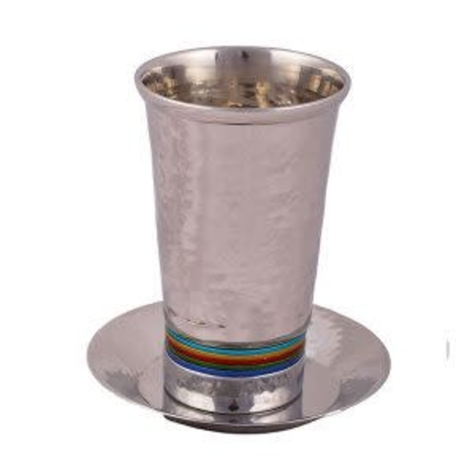Yair Emanuel Kiddush Cup Set, Stemless, Aluminum