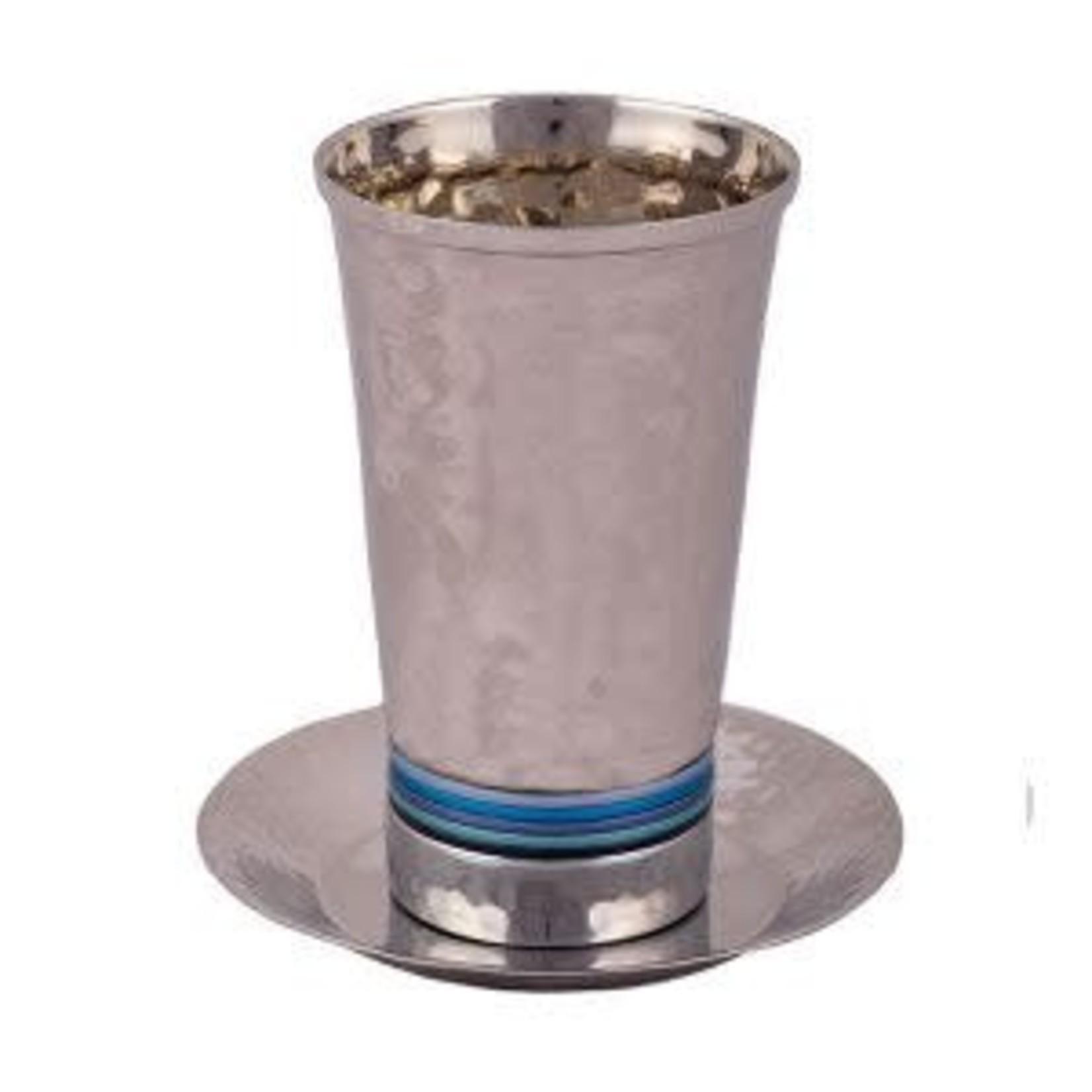 Yair Emanuel Kiddush Cup Set, Stemless, Aluminum