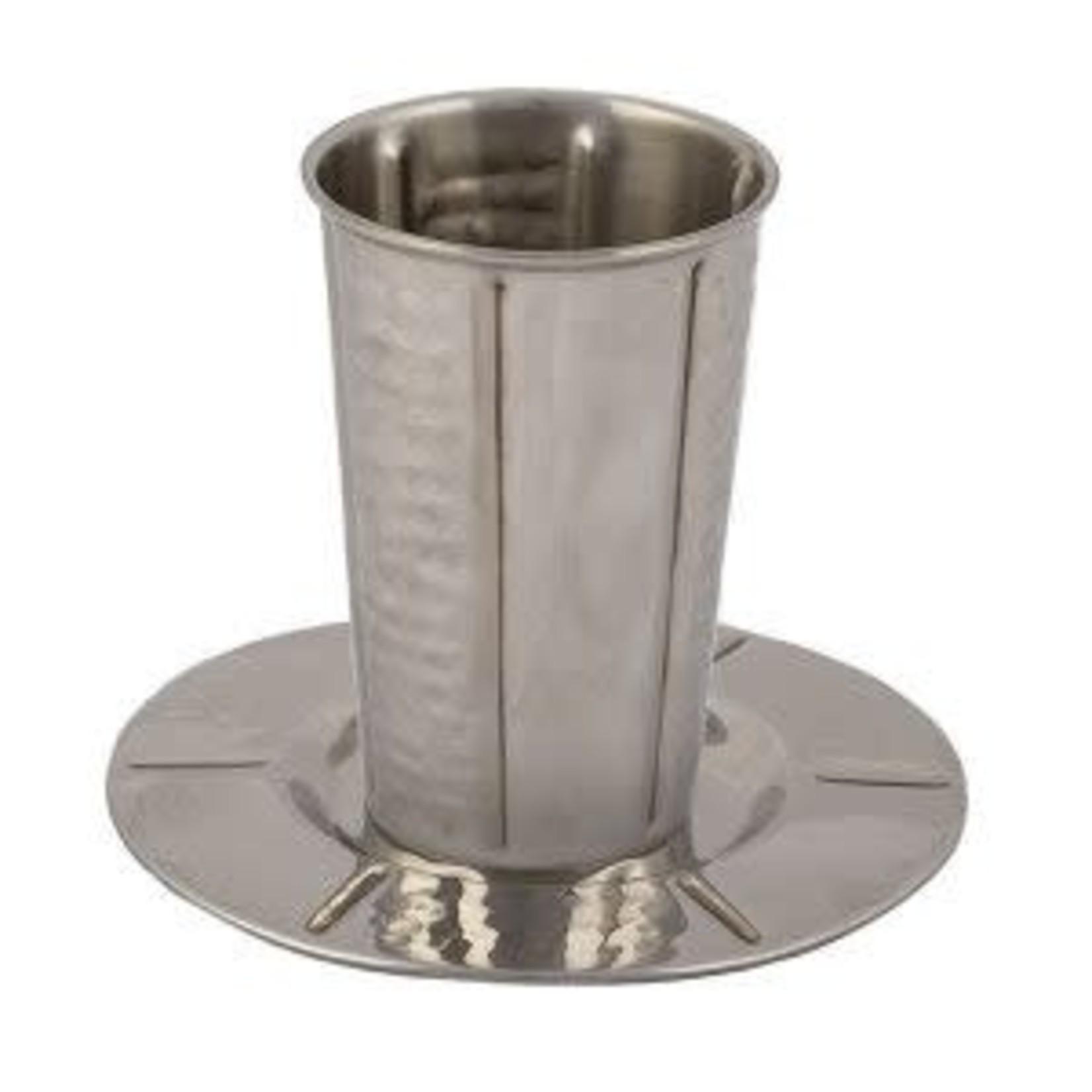Yair Emanuel Kiddush Cup Set, Stemless, Stainless Steel
