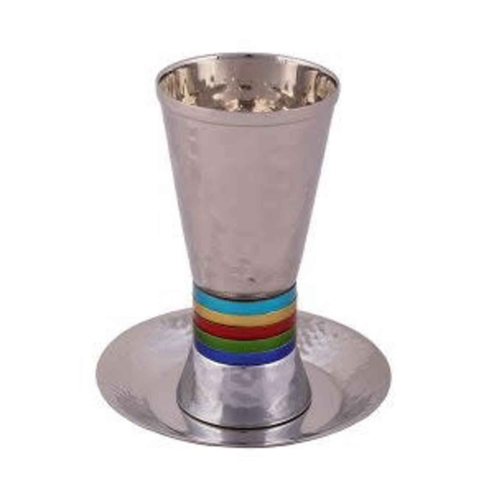 Yair Emanuel Kiddush Cup Set, Faux-Stemmed, Aluminum