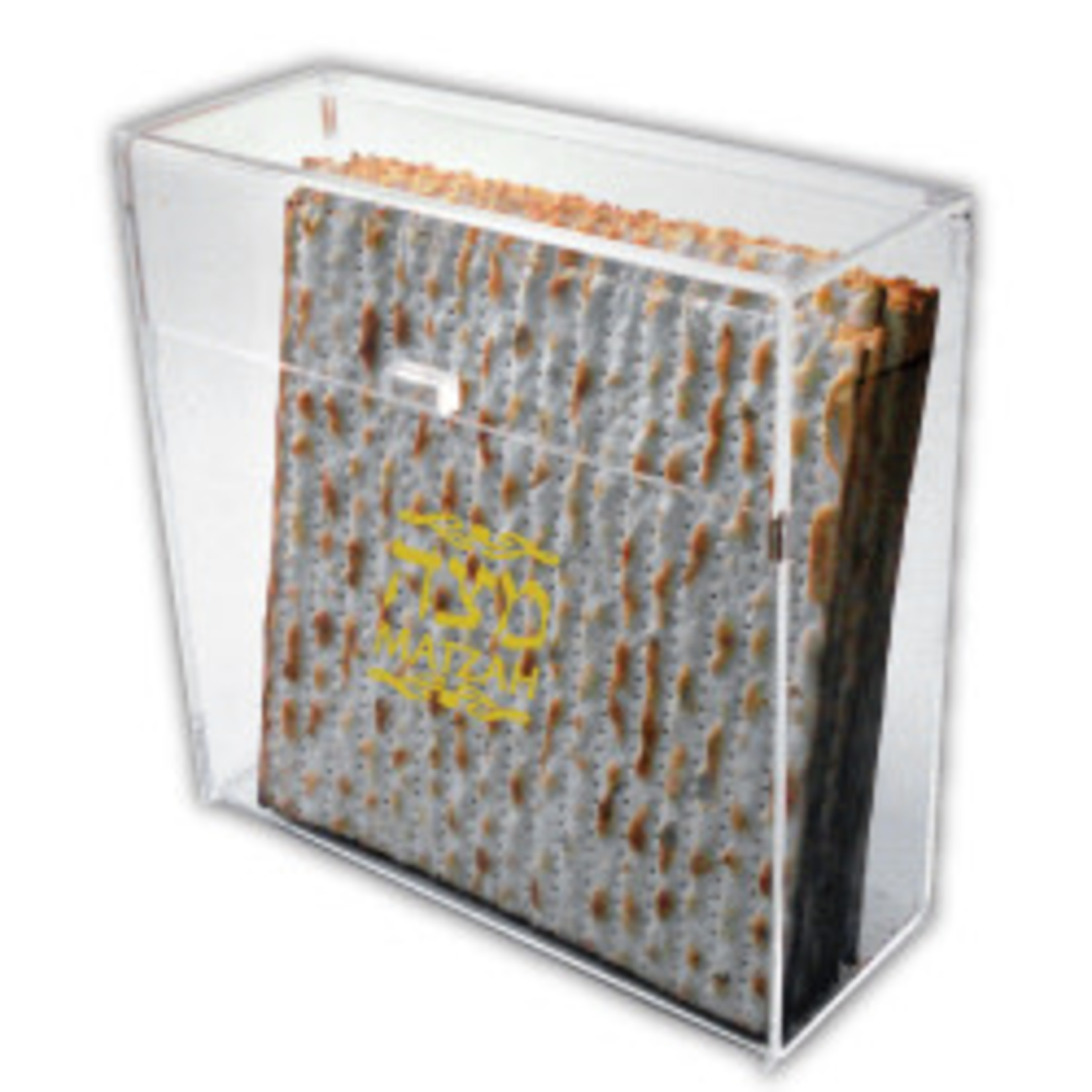 Judaica Selections Flip-Top Acrylic Matzah Box