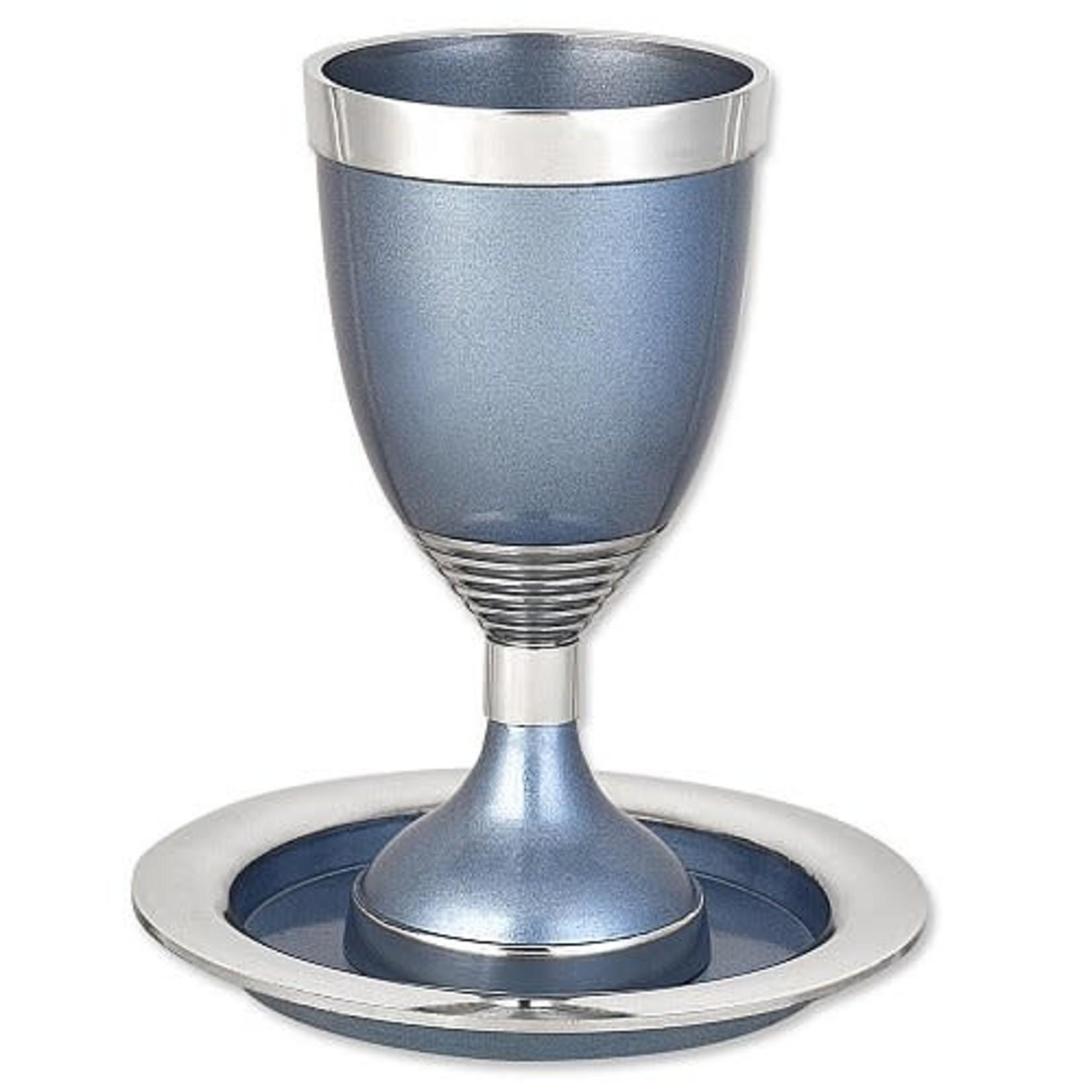 Kiddush Cup Set, Aluminum