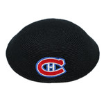 Hand-Crocheted DMC Kippah, Montreal Canadiens