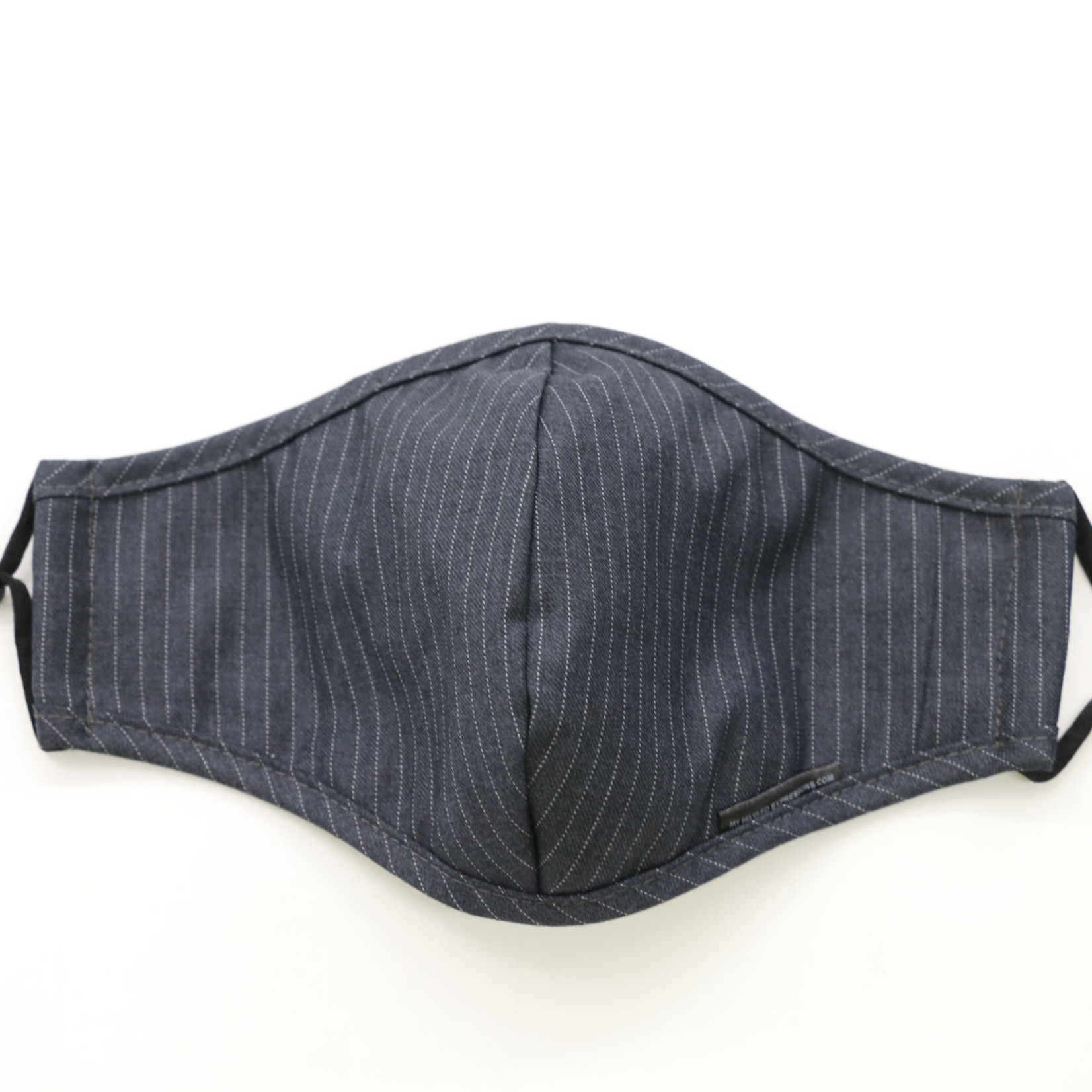 My Masked Expressions Adult Size Mask, Pinstripe Gabardine