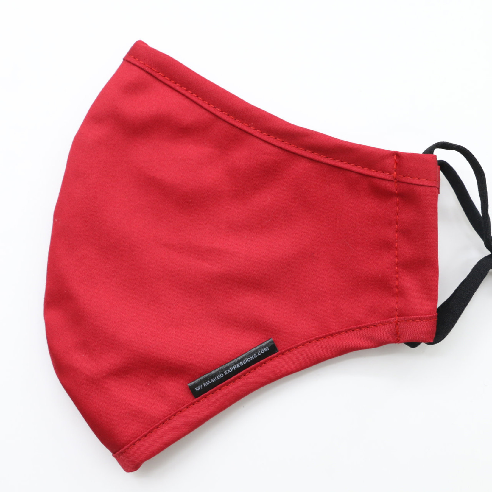 My Masked Expressions Adult Size Mask, Scarlet Red Cotton